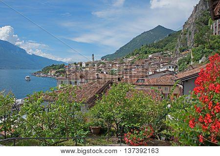 Pictorial Italian Tourist Resort Limone Sul Garda, Italy
