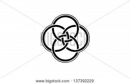 Set of logo templates in Celtic knots style. Tribal tattoo symbols package.  jewellery  logo