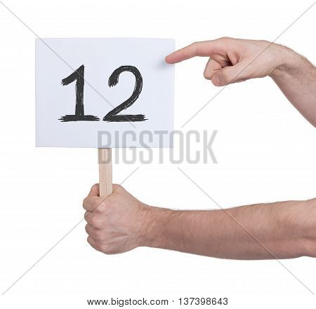 Sign With A Number, 12