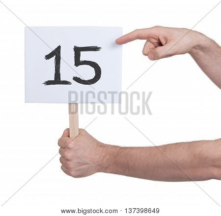 Sign With A Number, 15