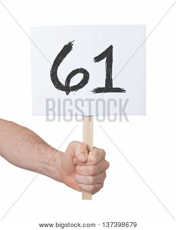 Sign With A Number, 61