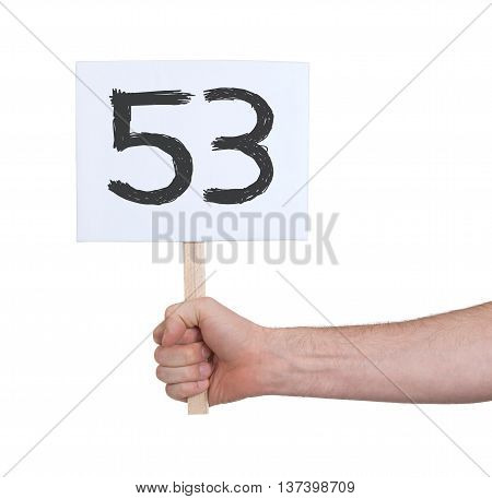 Sign With A Number, 53