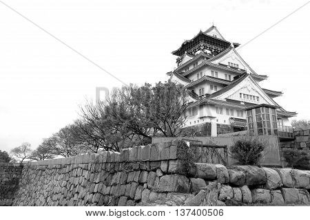 osaka Castle : Osaka Castle is a Japanese castle in Chūō-ku Osaka Japan. The castle is one of Japan's most famous landmarks and it played a major role in the unification of Japan during the sixteenth century of the Azuchi-Momoyama period.