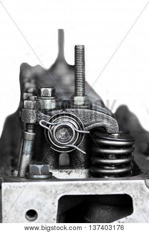 Intake And Exhaust Valves In The Engine