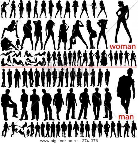 100 fashion people, women and men