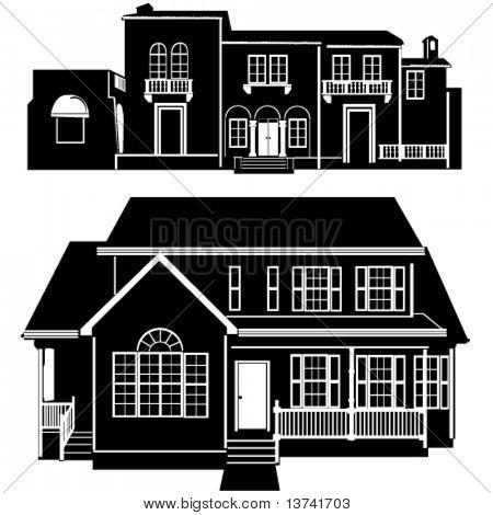 Residenzen bauen Vektor 5