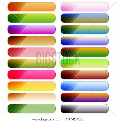 Colorful button collection isolated over white background