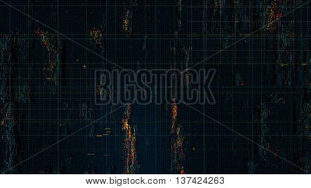 3d rendering digital technology background a lot of small dots form distorted and displaced surface