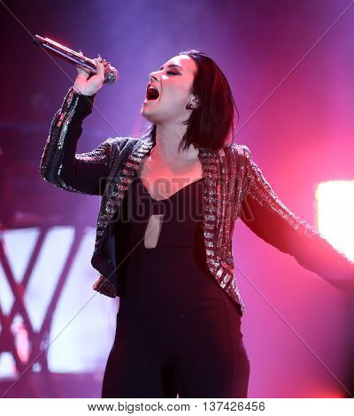 HOLLYWOOD, CA-OCT 24: Recording artist Demi Lovato performs during CBS RADIOs third annual We Can Survive, presented by Chrysler, at the Hollywood Bowl on October 24, 2015 in Hollywood, California.