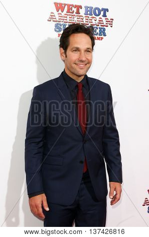NEW YORK-JUL 22: Actor Paul Rudd attends the 'Wet Hot American Summer: First Day of Camp' Series Premiere at SVA Theater on July 22, 2015 in New York City.