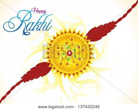 abstract artistic colorful raksha bandhan vector illustration