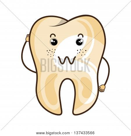 Medical dental care cartoon isolated flat icon, vector illustration.