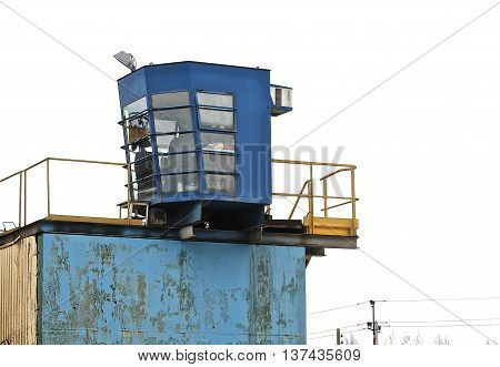 operator's cab production line for processing of metal scrap