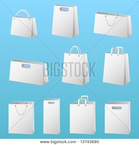 shopping package vector