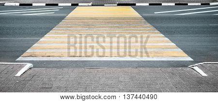 Pedestrian crossing wide screen horizontal, safety, wide