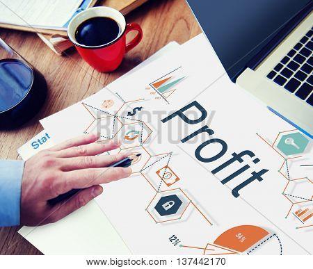 Profit Benefit Revenue Earnings Gain Gross Income Concept