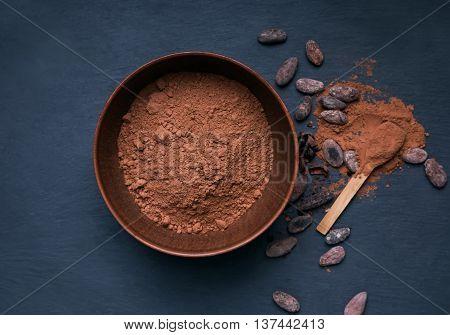 Cocoa Powder In A Bowl