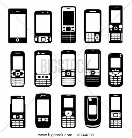 set of mobile phone vector