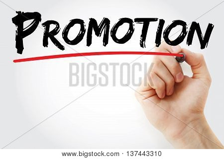 Hand Writing Promotion With Marker