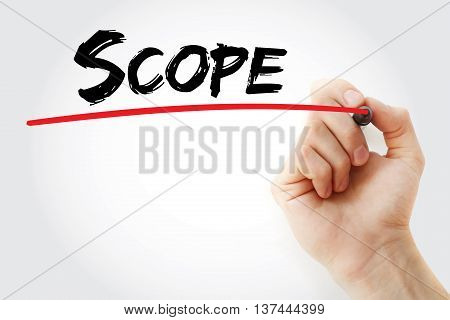 Hand Writing Scope With Marker