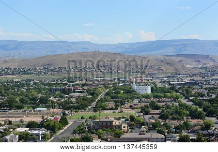 An overview of St George, Utah.