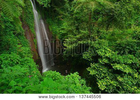Hidden Waterfall located in Curug Nangka, Ciapus, Bogor, West Java, Indonesia.