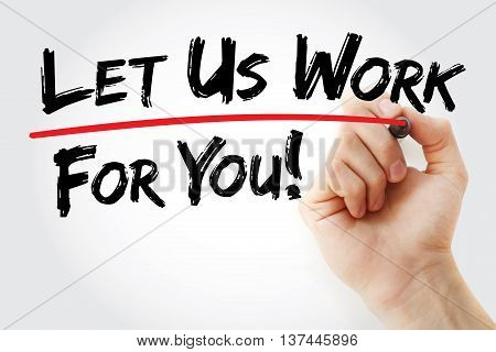 Hand Writing Let Us Work For You
