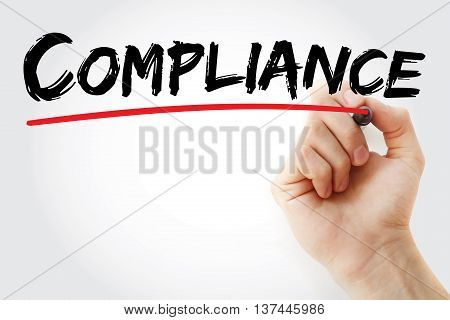 Hand Writing Compliance With Marker