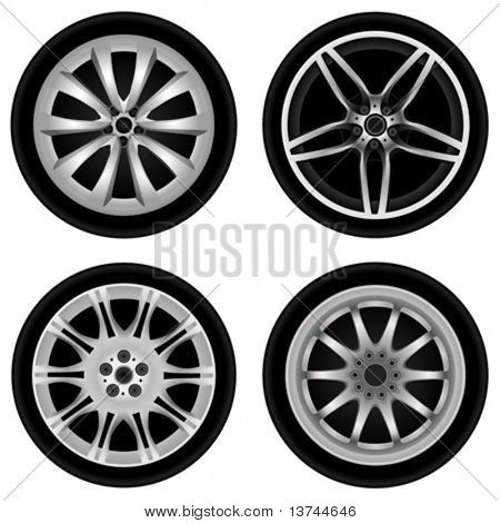 chrome wheel vector