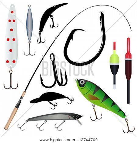 fishing rod, hook 2