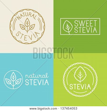 Vector Set Of Labels, Badges And Design Elements For Food Packaging