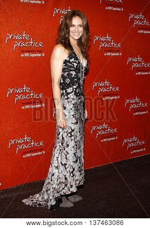Amy Brenneman at the Season One DVD Launch of 'Private Practice' held at the Roosevelt Hotel's Tropicana Bar in Hollywood, USA on September 2, 2008.