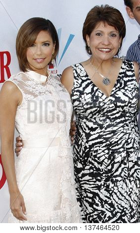 Eva Longoria and Janet Murguia at the 2008 ALMA Awards Nominees Announcement held at the Wisteria Lane, Universal Studios in Hollywood, USA on July 21, 2008.