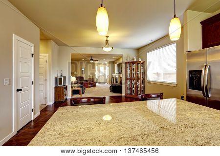 House Interior With Open Floor Plan