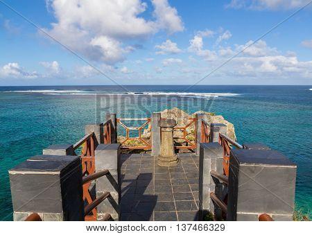 Baie du Cap Mauritius Maconde viewpoint panorama poster