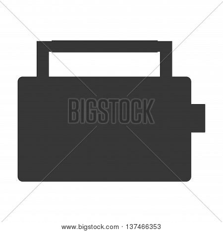 flat design classic boom box icon vector illustration