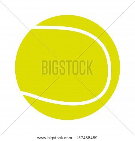 tennis ball isolated icon design, vector illustration  graphic