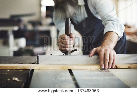 Carpenter Carpentry Handicraft Wooden Workshop Concept