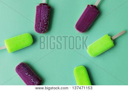 Ice Cream Juicy Fruity Sweet Summer Frozen Concept