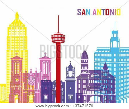 San Antonio Skyline Pop
