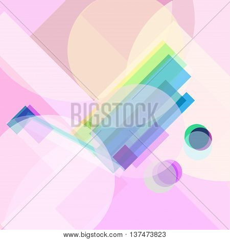 shopping mall Modern varicolored lucent banner for web page. New concept geometric design rainbow color symbol on radiant background. Geometric colour poster. Vector illustration in creative style.