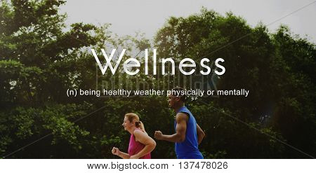 Salubrious Wellness Healthy Fitness Strong Powerful Concept