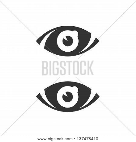Eye icon isolated on white background. Eye vector logo. Flat design style. Modern vector pictogram for web graphics. - stock vector