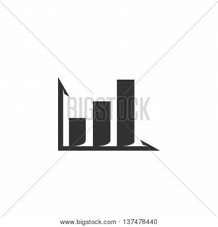 Diagram icon isolated on white background. Diagram vector logo. Flat design style. Modern vector pictogram for web graphics. - stock vector