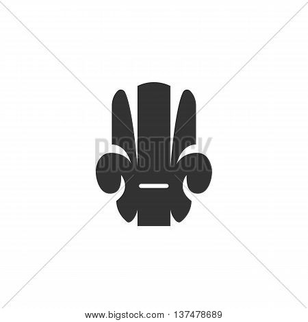 Armchair icon isolated on white background. Armchair vector logo. Flat design style. Modern vector pictogram for web graphics. - stock vector