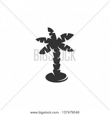 Palm icon isolated on white background. Palm vector logo. Flat design style. Modern vector pictogram for web graphics. - stock vector