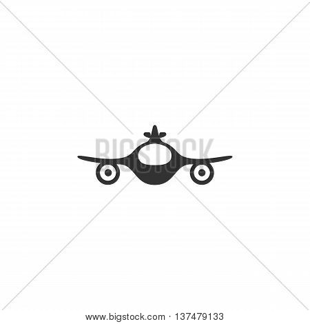 Aircraft icon isolated on white background. Aircraft vector logo. Flat design style. Modern vector pictogram for web graphics. - stock vector