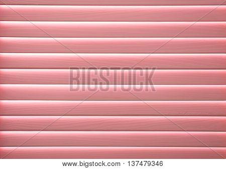 Pink folding screen, closeup