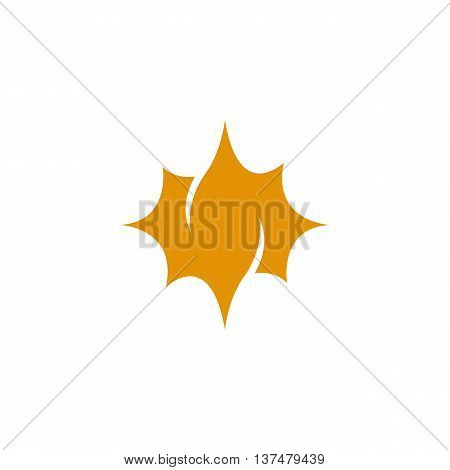 Sun icon isolated on white background. Sun vector logo. Flat design style. Modern vector pictogram for web graphics. - stock vector