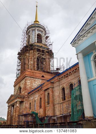 Church of the Assumption of the Most Holy Theotokos. Yelets Lipetsk region Russia. Construction of the temple: 1815-1841. The church was built as a monument to the victory of the Russian people in the Patriotic War of 1812. In 1995 restoration work starte poster